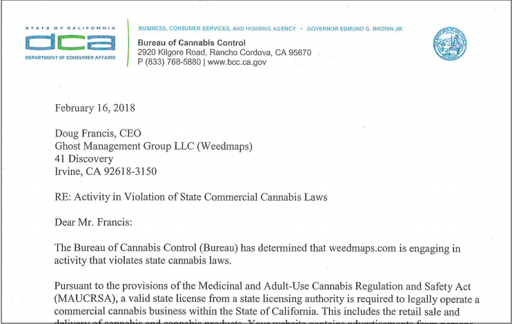 californias cease and desist letters weedmaps response and what it all means